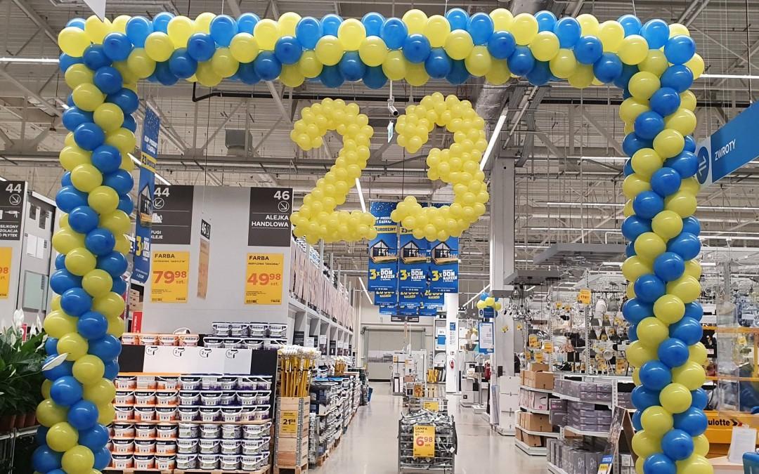 Brama balonowa na 23. urodziny Castoramy w Elblągu
