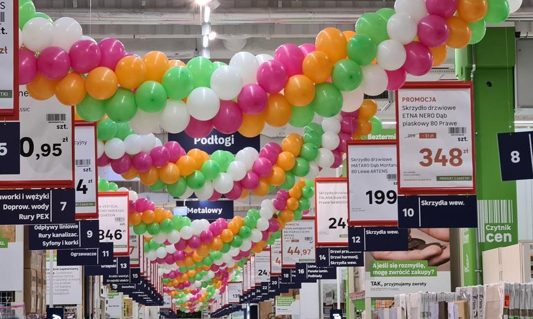 11 kilometrów dekoracji balonowych, czyli rekordowa współpraca z Leroy Merlin!